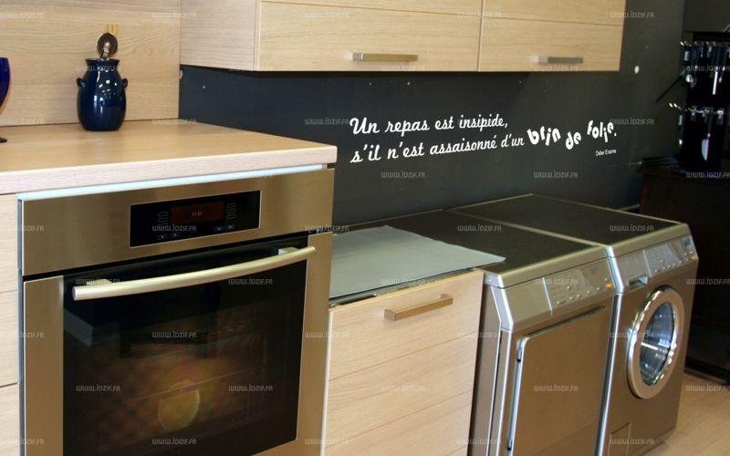 Sticker citation un repas est insipide s 39 il n 39 est - Stickers miroir cuisine ...