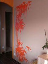 déco murale branche de bambous