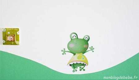 stickers bebe grenouille