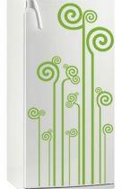 Sticker réfrigérateur Tiges tourbillons. Décoration de réfrigérateur réalisée sur mesure en vinyle adhésif, à vous de choisir la couleur qui s\'accordera le mieux à votre intérieur de cuisine. Sticker idéal pour rendre son réfrigérateur unique mais pourquoi pas vous en servir pour décorer un de vos murs de cuisine.