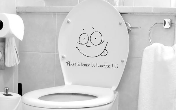 décoration wc stickers