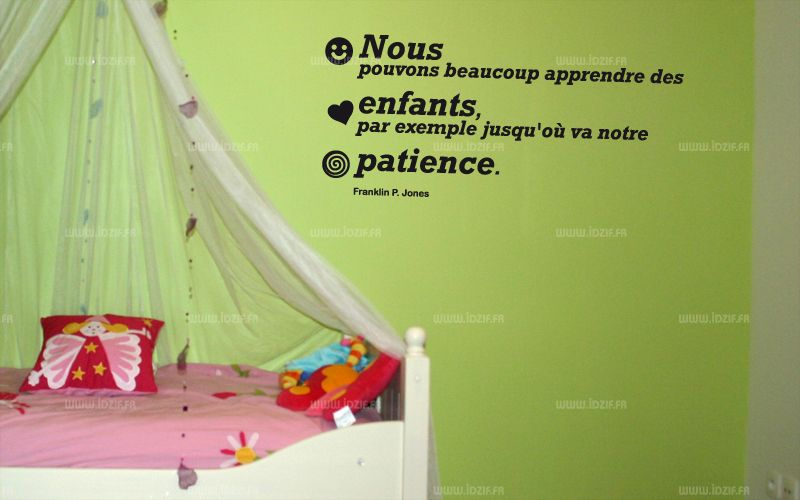stickers citation enfant. Black Bedroom Furniture Sets. Home Design Ideas