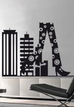 "Sticker \\\"" Walk on the City \\\""."