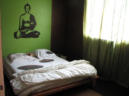 stickers bouddha. Black Bedroom Furniture Sets. Home Design Ideas