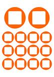 Sticker 14 Ronds et Carrés