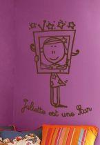 Sticker à personnaliser Juliette est une star