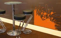 """Sticker \""""alphabet\"""" découpé à la forme dans vinyle de couleur unie. Ce visuel habillera vos murs de manières originale. Création MALTIN"""