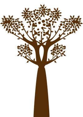 """Sticker arbre découpée à la forme dans vinyle de couleur unie. Ce visuel complétera votre collection de stickers muraux, il s\'harmonise subtilement avec le visuel \"""" plante envoûtante \""""."""