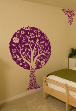 sticker arbre f erique. Black Bedroom Furniture Sets. Home Design Ideas