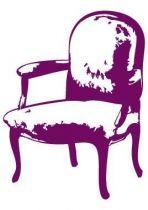 Sticker baroque fauteuil