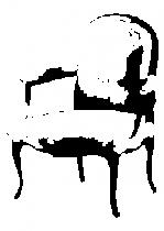 Sticker baroque fauteuil, sticker découpé à la forme dans vinyle de couleur unie. Ce visuel grandeur nature fera un parfait trompe l\'oeil dans votre intérieur.