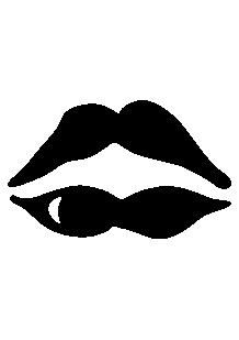 Sticker bouche