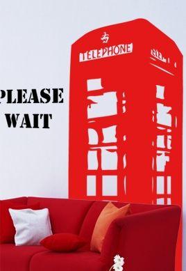 Sticker cabine téléphonique anglaise.