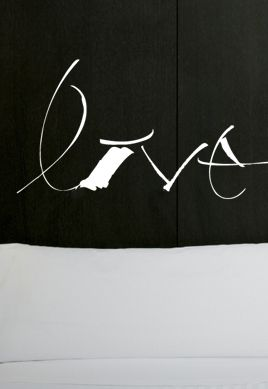 Sticker calligraphie love