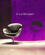 Sticker chaise : Cocoon Chair. 60\'s style sticker chaise Cocoon Chair découpée à la forme dans vinyle de couleur unie.