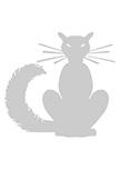 Sticker chat. Filou. Sticker chat découpé à la forme dans vinyle de couleur unie.