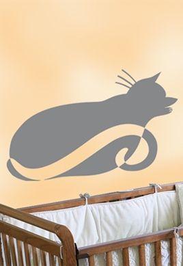 Sticker chat couché.