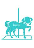 sticker cheval en bois