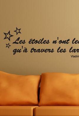 Sticker citation  : Les étoiles n\'ont leur vrai reflet qu\'à travers les larmes