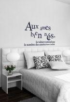 Sticker citation : Aux âmes bien nées, la valeur n\'attend pas le nombre des années