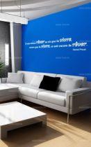 """Sticker citation \""""il vaut mieux rêver...\"""" de Marcel Proust. Sticker adhésif découpés à la forme dans vinyle de couleur unie, ce sticker originale trouvera une place de choix dans votre intérieur."""