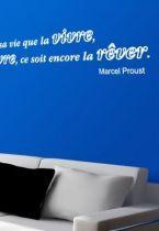Sticker citation : Il vaut mieux rêver sa vie que la vivre, encore que la vivre, ce soit encore la rêver