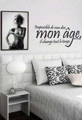 Sticker citation : Impossible de vous dire mon âge, il change tout le temps