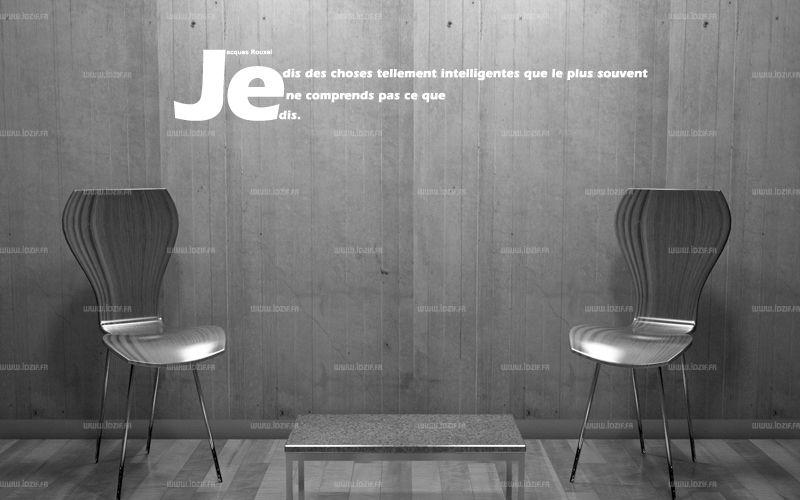 """Sticker citation \""""Je dis des choses...\"""" de Jacques Rouxel. Sticker adhésif découpés à la forme dans vinyle de couleur unie, ce sticker originale trouvera une place de choix dans votre intérieur."""