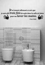 Sticker citation : Je m\'ennuie tellement ce soir (...) laver les mains