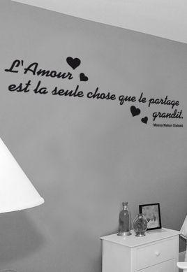 Sticker citation : L\'amour est la seule chose que le partage grandit