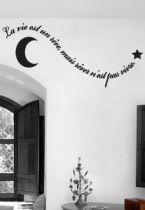Sticker citation : La vie est un rêve, mais rêver n\'est pas vivre