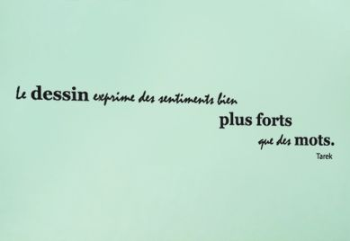 Sticker citation : Le dessin exprime des sentiments bien plus forts que des mots