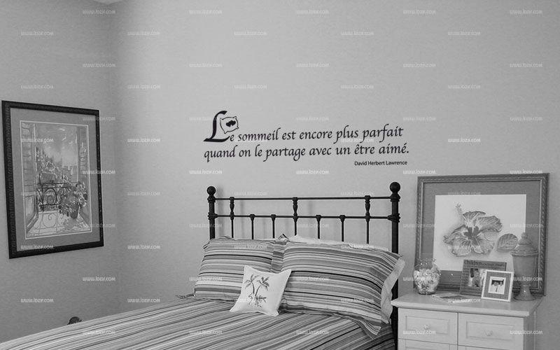 """Sticker citation \""""Le sommeil est ...\"""" de David Herbert Lawrence. Sticker adhésif découpés à la forme dans vinyle de couleur unie. Ce visuel fera sensation dans votre intérieur."""