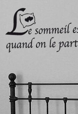 Sticker citation : Le sommeil est encore plus parfait (...) avec un être aimé