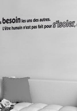 Sticker citation : Nous avons besoin les uns des autres (...) pour partager