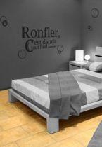 Sticker citation : Ronfler, c\'est dormir tout haut