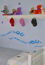 Sticker citation : Sans petit bisou, les rêves sont flous
