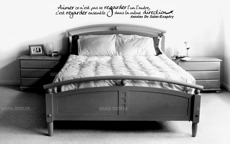 sticker citation aimer ce n 39 est pas se regarder l 39 un l 39 autre c 39 est dans la m me direction. Black Bedroom Furniture Sets. Home Design Ideas