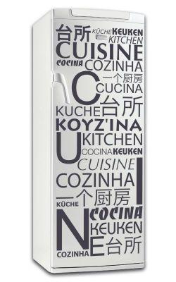 Sticker frigo cuisine en diff rentes langues - Stickers meuble cuisine ...