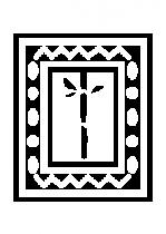 Sticker deco cadre bambou