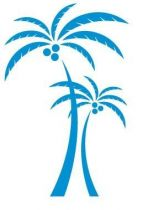 Sticker duo de cocotiers