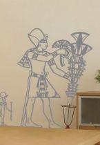 Sticker égyptien et son sceptre.