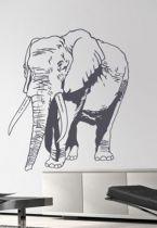 Sticker deco éléphant découpé à la forme dans vinyle adhésif uni.