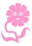 Sticker enfant fleur lady