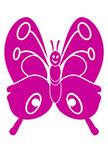 Sticker enfant papillon