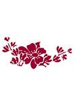 Sticker fleur asiatique découpée à la forme dans vinyle de couleur unie.