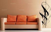 Sticker fleur arum découpé à la forme dans vinyle de couleur unie. Ce visuel habillera vos murs de manières originale. Création MALTIN