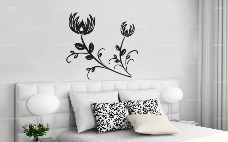 sticker fleurs. Black Bedroom Furniture Sets. Home Design Ideas