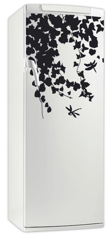 Sticker frigo lierre en vinyle adhésif avec découpe à la forme, ce visuel nature trouvera sa place sur votre frigo.