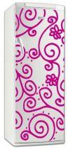 Sticker frigo motifs tourbillonnants en vinyle adhésif avec découpe à la forme, avec ce visuel renversant oser vous démarquez.